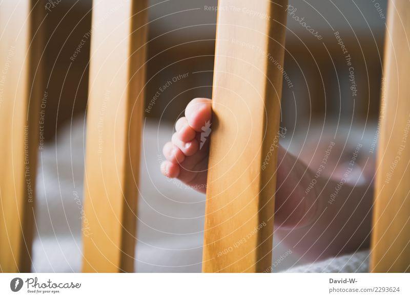 Kleiner Fuß elegant Körperpflege Haut Gesundheit Gesundheitswesen Leben harmonisch Wohlgefühl Zufriedenheit Sinnesorgane Erholung ruhig Mensch Kind Baby