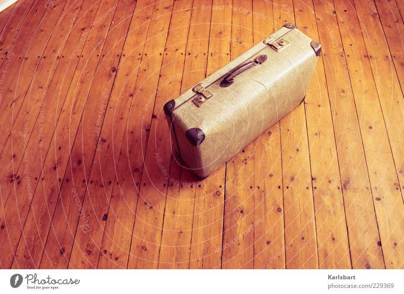 zeit. zu gehen. alt Sommer Freiheit Gefühle Holz Bewegung Stimmung Raum Wohnung Lifestyle Bodenbelag Wandel & Veränderung Vergänglichkeit Lebensfreude Nostalgie