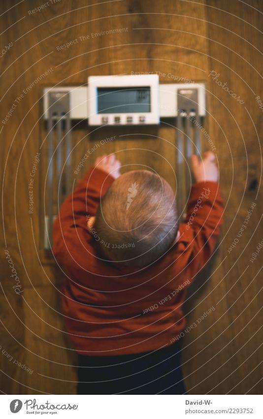 Einmal wiegen bitte Kind Mensch Gesunde Ernährung schön Leben Gesundheit lustig Lebensmittel Körper elegant Kindheit lernen Baby Fitness beobachten