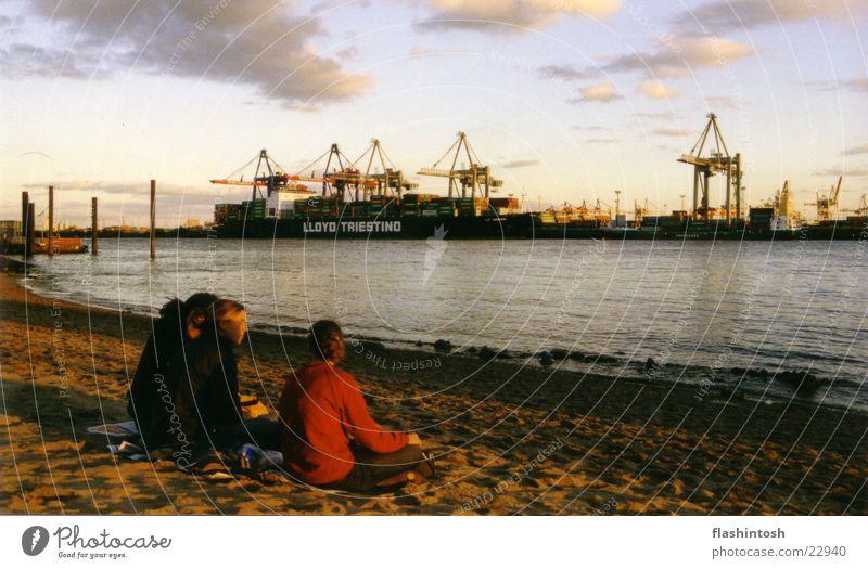 Elbstrand Strand Erholung Hamburg mehrere Freizeit & Hobby Container Elbstrand