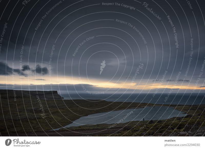 rush hour Natur Landschaft Urelemente Wasser Himmel Wolken Sonnenaufgang Sonnenuntergang Frühling Wetter Gras Felsen Berge u. Gebirge Küste Flussufer Strand