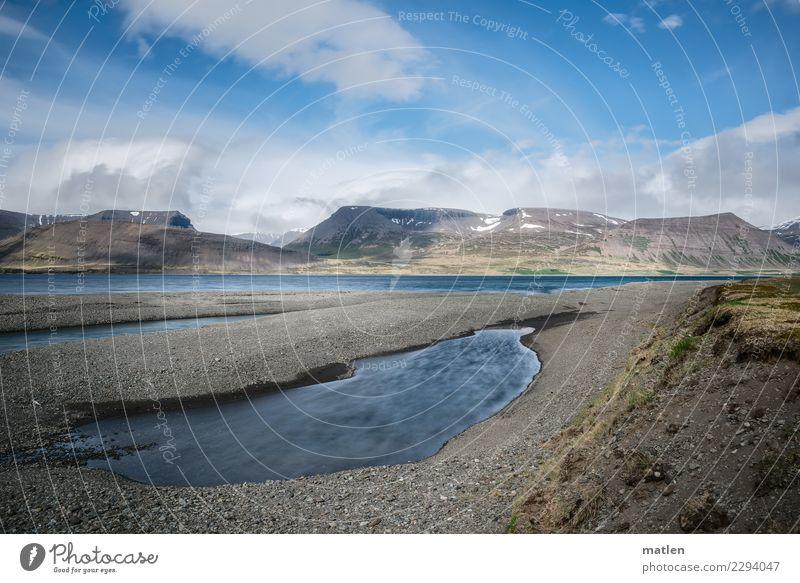 Steinbänke am Fjord Himmel - ein lizenzfreies Stock Foto von Photocase