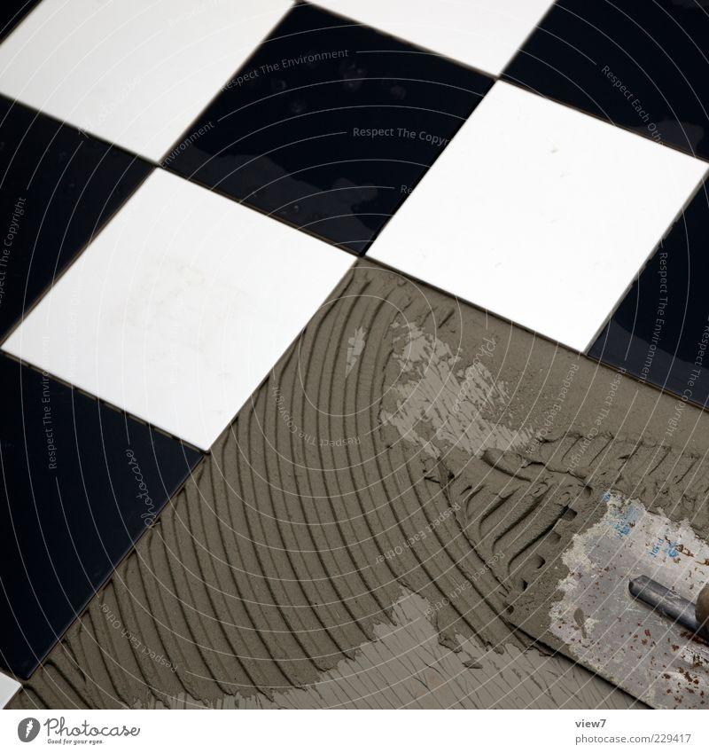 Schach! weiß schwarz Ordnung ästhetisch authentisch neu einfach Fliesen u. Kacheln Quadrat Handwerk Putz Erfahrung Originalität Präzision Maurerkelle