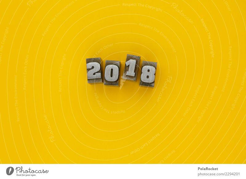 #AS# 2/0/1/8 Kunst ästhetisch 2018 Ziffern & Zahlen gelb Jahr Jahreszahl Farbfoto mehrfarbig Innenaufnahme Studioaufnahme Nahaufnahme Detailaufnahme Experiment