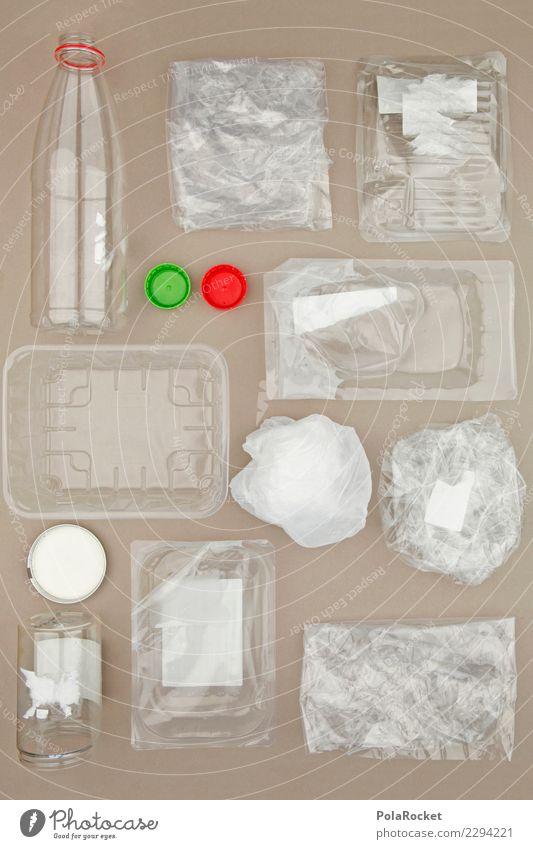 #AS# Plastik-Sammlung Kunst ästhetisch Kunststoff Statue nachhaltig Skulptur Verpackung Plastiktüte Recycling Verpackungsmaterial Plastikbecher Plastikdose