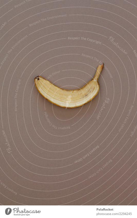 #AS# halbe Sache Fitness Sport-Training Essen braun Banane Hälfte Teilung Kerne schneiden Messer teilen gelb Strukturen & Formen Kreativität Frucht