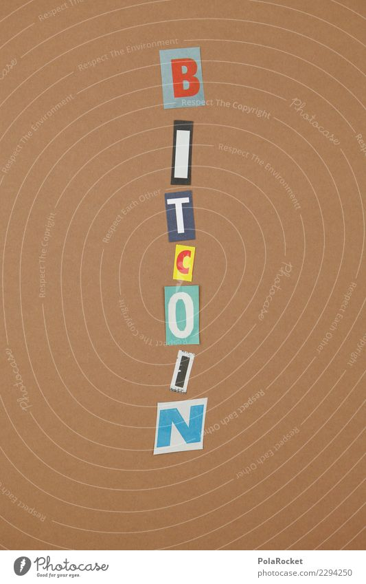 #AS# BITCOIN Kunst braun ästhetisch Kreativität Wort Kryptowährung