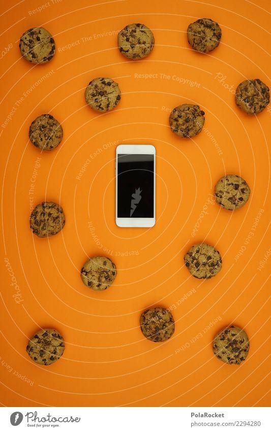 #AS# Cookies überall II Handy Angst weiß Keks cookies orange Sicherheit spionieren Angriff viele angriffslustig Kreativität ästhetisch Datenschutz Privatsphäre