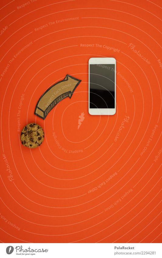 #AS# Cookie INSIDE ? Handy Angst Dienstleistungsgewerbe Pfeil Keks cookie Sorge Sicherheit Kreativität Virus Angriff Datenschutz orange viele Comic Internet