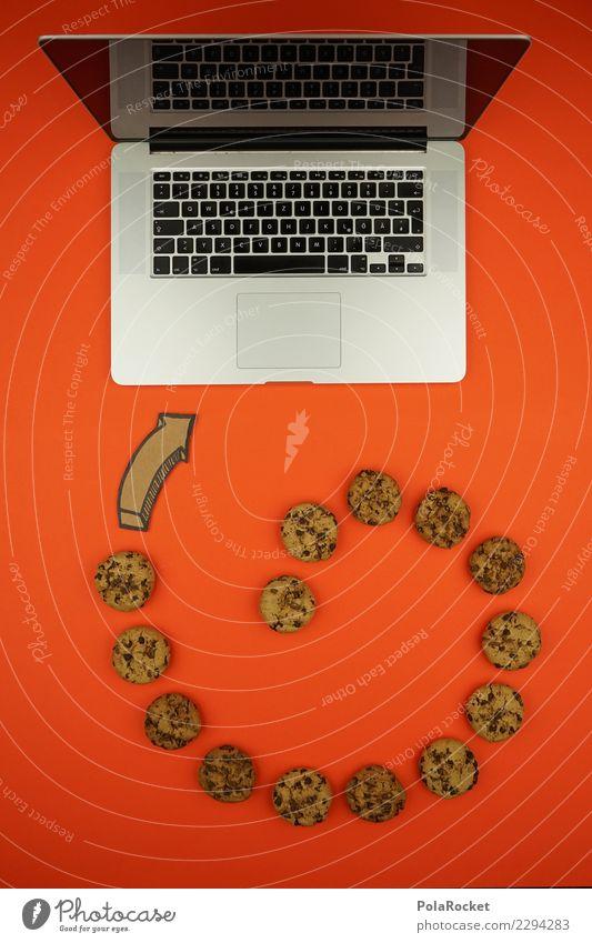 #AS# Cookie Tornado Computer Angst Sorge Kunst ästhetisch Kreativität cookie Keks Virus Angriff angriffslustig Notebook Datenschutz Orange Tastatur