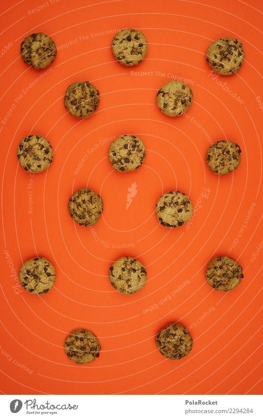 #AS# Cookie Kunst orange ästhetisch lecker viele Süßwaren Backwaren Schokolade Keks Kalorienreich
