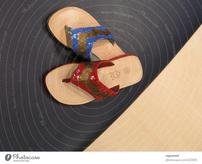 shoes blau rot Sommer Mode Fuß Schuhe Glamour Flipflops