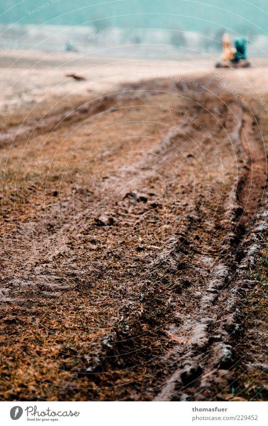 Im Märzen der Bauer ... Himmel Natur Erde Feld nass Landwirtschaft Forstwirtschaft Schlamm Traktor Düngung matschig Traktorspur