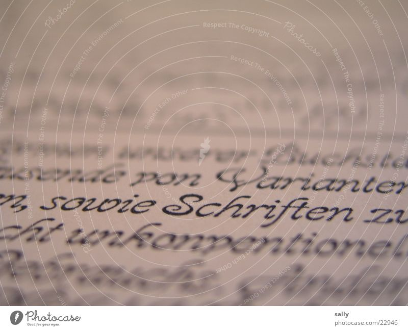 typos Schriftzeichen Buchstaben Wort Unschärfe Zeitung Zeitschrift Schriftmuster