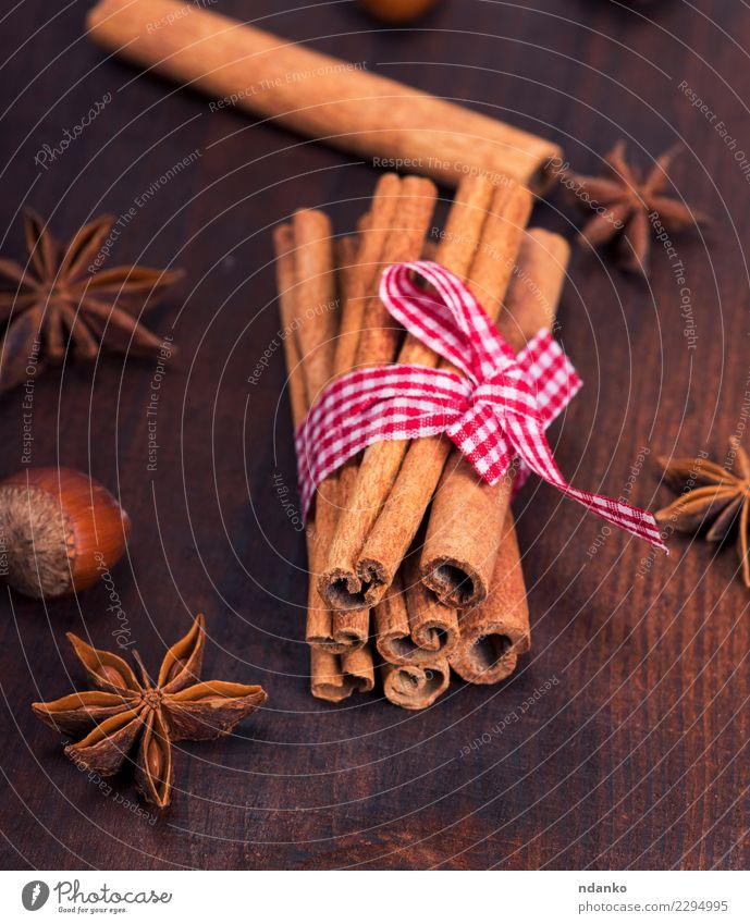 dunkel natürlich Holz Lebensmittel braun Dekoration & Verzierung Tisch Kräuter & Gewürze aromatisch Konsistenz rustikal Zutaten Würzig Zimt kulinarisch