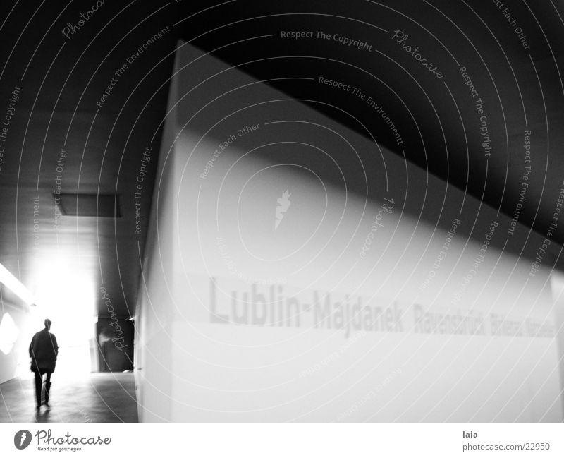 into the light Wand Licht Ausstellung Flur Liebeskind Berlin Perspektive