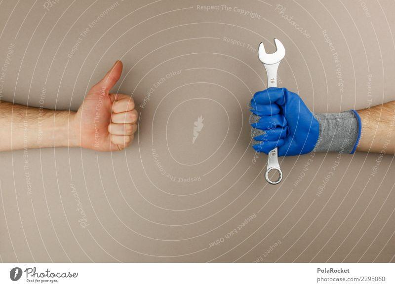 #AS# Handwerk Daumen hoch Beruf Handwerker bauen Handwerksmeister selbstgemacht heimwerken Handschuhe Reinigen Werkzeug Schraubenschlüssel Arbeitsbekleidung
