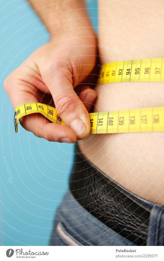 #AS# Vorsatz-Check Hand gelb Sport Kunst Übergewicht Jeanshose Kontrolle Bauch Diät Fett messen Kalorie fettarm Maßband Kalorienreich Vorsätze