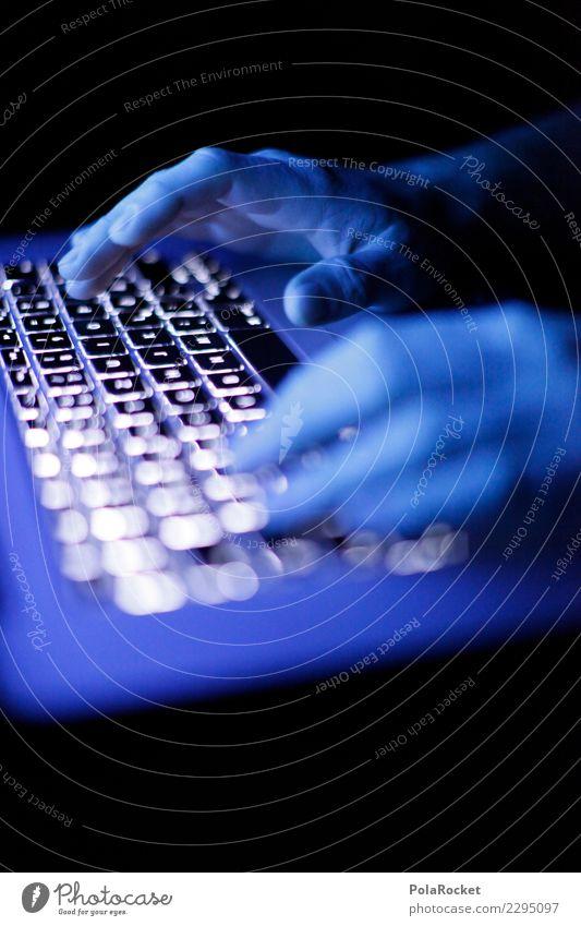 #AS# Glowing Work Kunst ästhetisch Tastatur Klaviatur Tastaturkurzbefehl Hacker hacken digital Internet Arbeit & Erwerbstätigkeit Hand Finger Tippen online