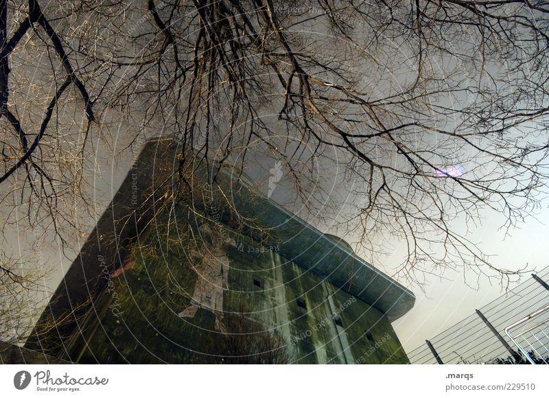 Bunker dunkel Architektur Gebäude groß Perspektive Ast Bauwerk historisch Sehenswürdigkeit Wien gigantisch