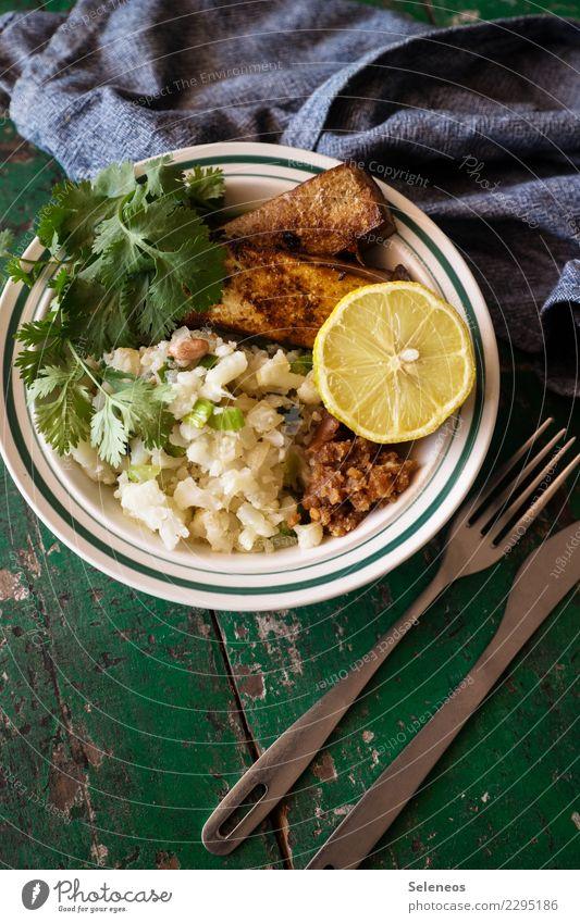 Blu mit Tofu Lebensmittel Gemüse Frucht Zitrone Blumenkohl Kräuter & Gewürze Ernährung Mittagessen Abendessen Bioprodukte Vegetarische Ernährung Diät