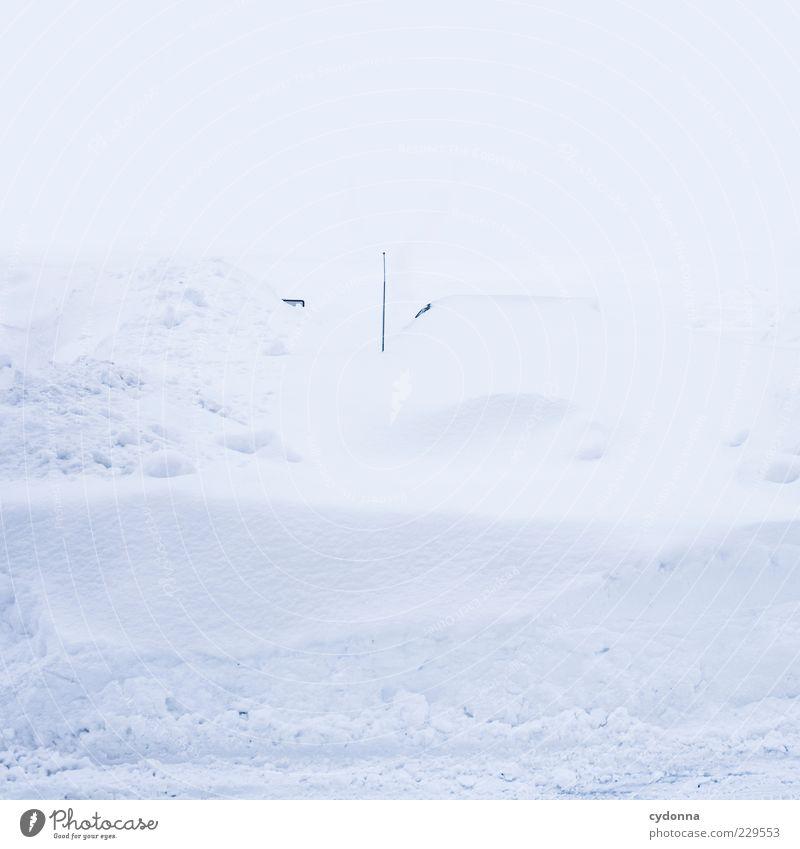 Autoradio: Wetterbericht Natur weiß Winter ruhig Einsamkeit Straße Leben kalt Schnee Umwelt PKW Eis ästhetisch Wandel & Veränderung Frost einzigartig