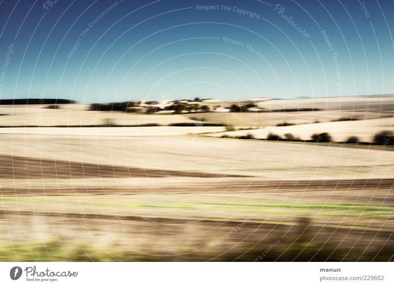 Pariser Becken Natur Landschaft Himmel Horizont Sommer Schönes Wetter Feld Getreidefeld authentisch modern Farbfoto Experiment abstrakt Muster Menschenleer