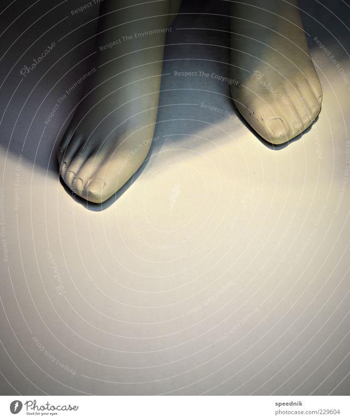 Kalte Füße weiß schön kalt Stil Fuß Design Dekoration & Verzierung Kunststoff silber Puppe Zehen Schaufensterpuppe Sammlerstück Zehennagel Zehenspitze