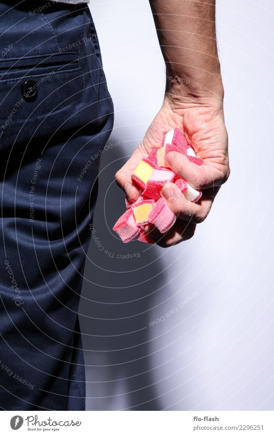 Traditioneller Handspeck I Mensch Jugendliche Mann schön Junger Mann rot Erwachsene Leben Gesundheit Stil Glück Lebensmittel rosa Freizeit & Hobby maskulin