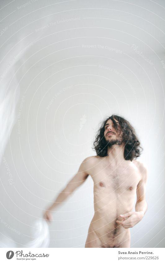 440!!! *freu* Lifestyle elegant Stil Freude maskulin Körper Haut Bauch 1 Mensch 18-30 Jahre Jugendliche Erwachsene Haare & Frisuren brünett langhaarig Locken