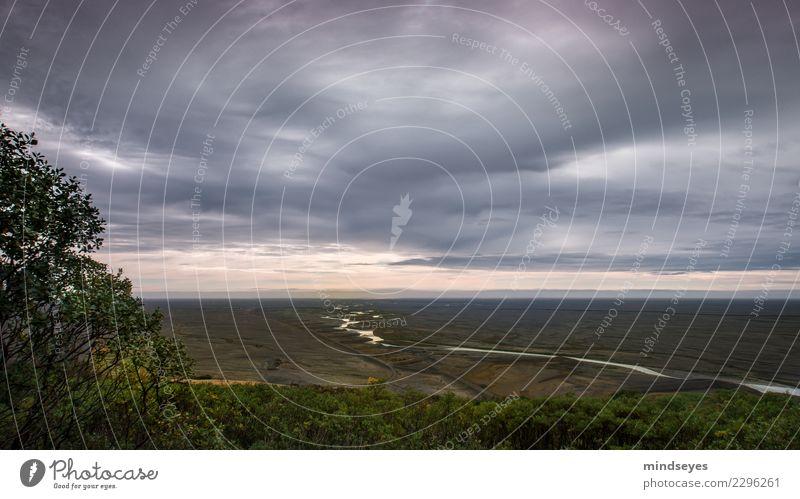 Die silberne Schlange Abenteuer Ferne Freiheit wandern Natur Landschaft Erde Wasser Himmel Wolken Horizont Sonnenaufgang Sonnenuntergang Sträucher Fluss Ebene