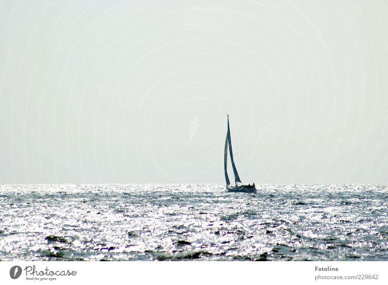 Steuerbord liegt Spiekerook ;-) Himmel Natur Wasser Meer Ferne Umwelt hell Wasserfahrzeug Wellen Horizont fahren Urelemente Nordsee Segeln Ostsee Im Wasser treiben