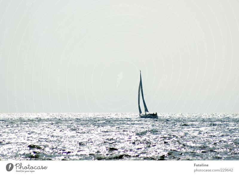 Steuerbord liegt Spiekerook ;-) Umwelt Natur Urelemente Wasser Himmel Wolkenloser Himmel Wellen Nordsee Ostsee Meer Bootsfahrt Segelboot Segelschiff