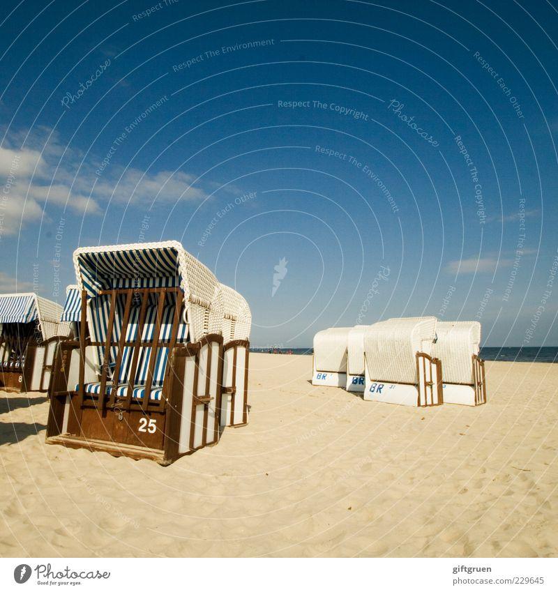 25 Lifestyle Freiheit Sonne Strand Umwelt Natur Landschaft Urelemente Sand Wasser Himmel Horizont Sommer Schönes Wetter Küste Ostsee Meer Sandstrand