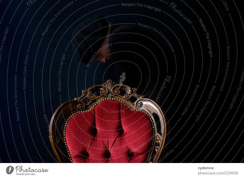 Kapitel 1: Perfekte Tarnung Mensch ruhig schwarz Leben Stil Raum Hintergrundbild elegant ästhetisch planen Lifestyle Wandel & Veränderung Stuhl Schutz geheimnisvoll Kreativität