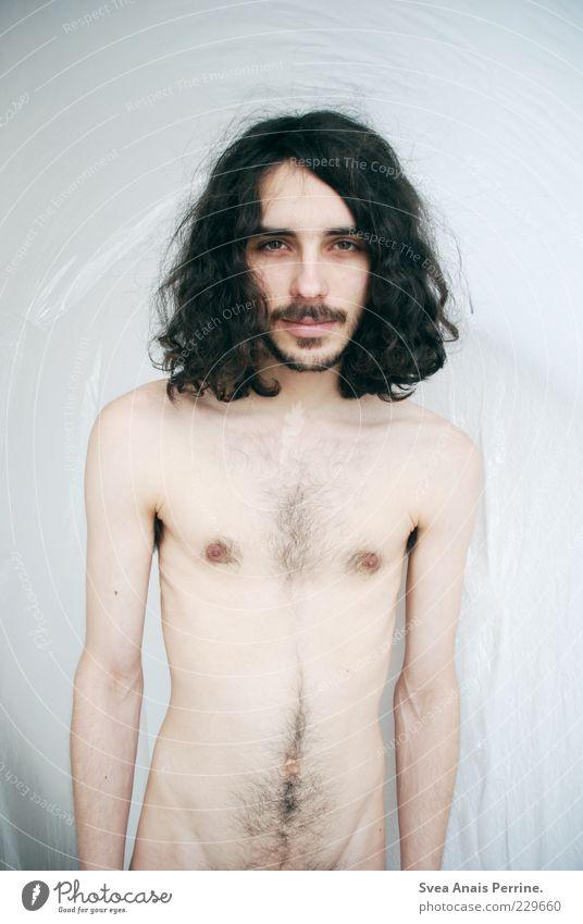 """mama geht jetzt steil"""" Mensch Jugendliche Erwachsene nackt Haare & Frisuren Stil Körper elegant Haut maskulin authentisch stehen Lifestyle Coolness 18-30 Jahre dünn"""