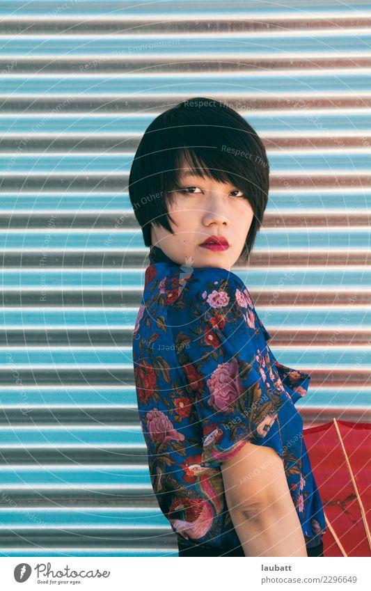 Ferien & Urlaub & Reisen Jugendliche Junge Frau Gesicht Mode elegant einzigartig kaufen Reichtum Identität Entschlossenheit Selbstständigkeit kurzhaarig Chinese