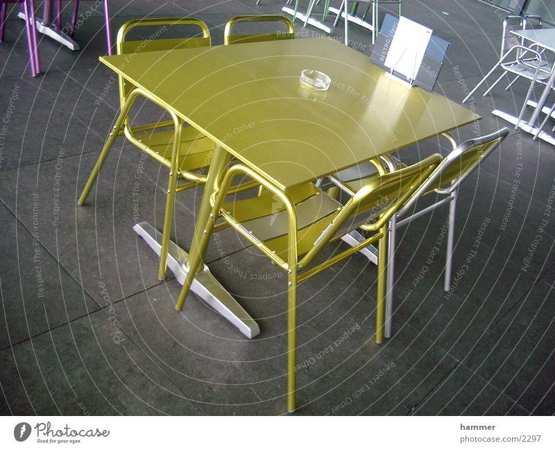 tisch Tisch Stuhl gelb Dinge