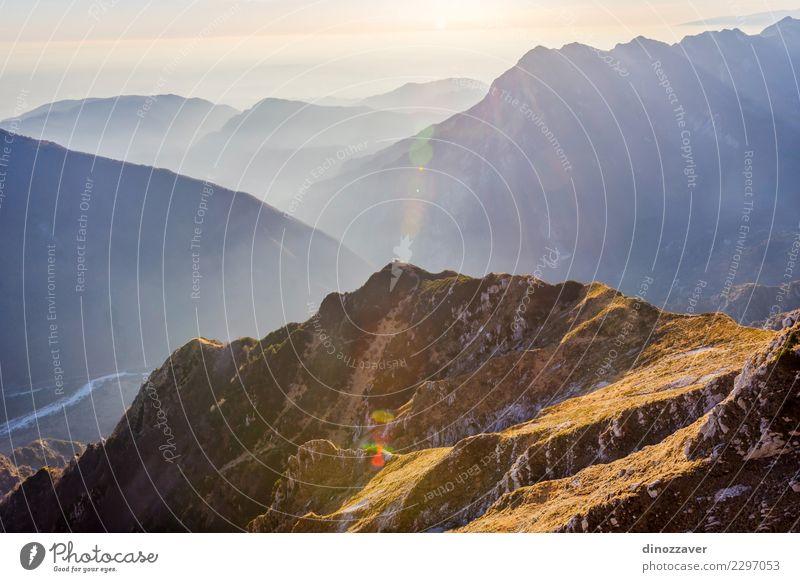 Tal mit Bivacco Dino Biwak, Udine, Italien Natur Ferien & Urlaub & Reisen Landschaft Wolken Freude Berge u. Gebirge Wege & Pfade Sport Stein Felsen wandern