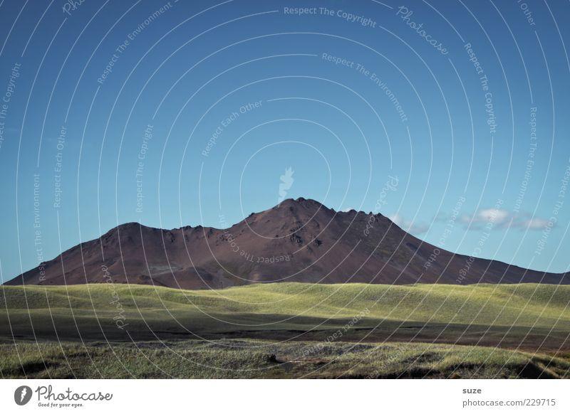 Berg Ferne Berge u. Gebirge Umwelt Natur Landschaft Himmel Klima Schönes Wetter Wiese Hügel Felsen Gipfel außergewöhnlich gigantisch groß einzigartig schön blau