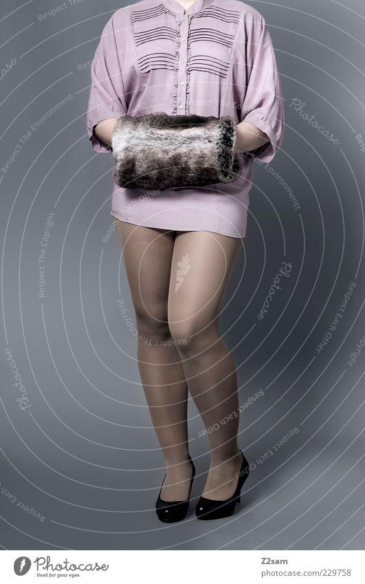 MUFF, MUFF!!! schön feminin Wärme Stil Beine Mode rosa elegant Design modern ästhetisch stehen Lifestyle Bekleidung retro Körperhaltung