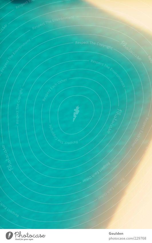 Poolboy missing schön Schwimmbad frisch blau türkis Erfrischung Erholung Wasser nass Farbfoto Außenaufnahme Menschenleer Textfreiraum links Textfreiraum oben