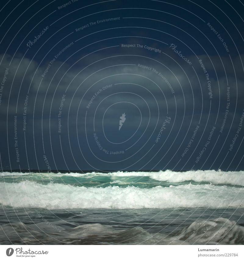 banderole Himmel Wasser schön Meer Sommer Strand Wolken Ferne Erholung Leben kalt Umwelt Stimmung Wellen Horizont natürlich