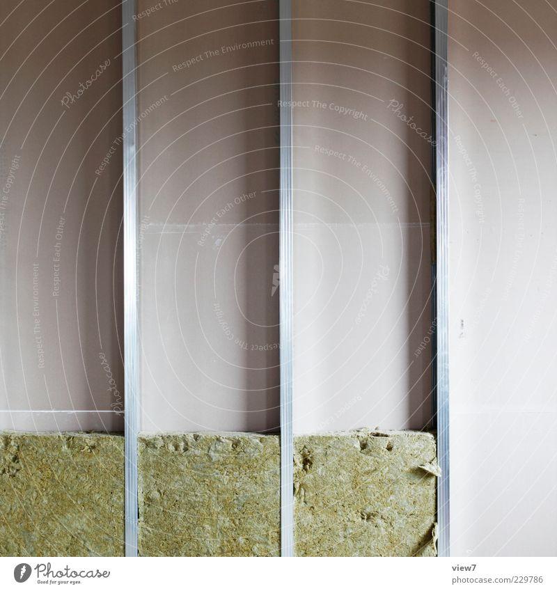 Wärmedämmung Wand Mauer Linie Ordnung Beginn Energie frisch modern Energiewirtschaft authentisch neu Metallwaren Baustelle Streifen Zeichen parallel