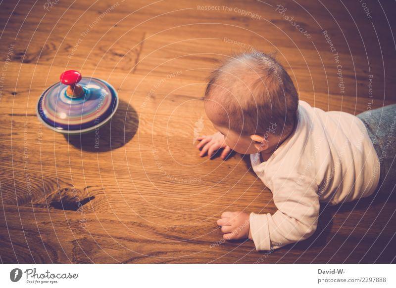 faszination Kind Mensch schön Mädchen Lifestyle Leben Gesundheit Junge klein Spielen Kopf Häusliches Leben Wohnung Zufriedenheit Raum Kindheit