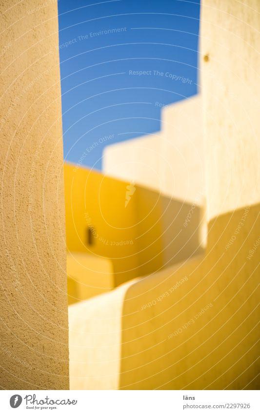 Wechselseitigkeit Himmel Stadt Haus Wand Gebäude Mauer Fassade einfach Bauwerk