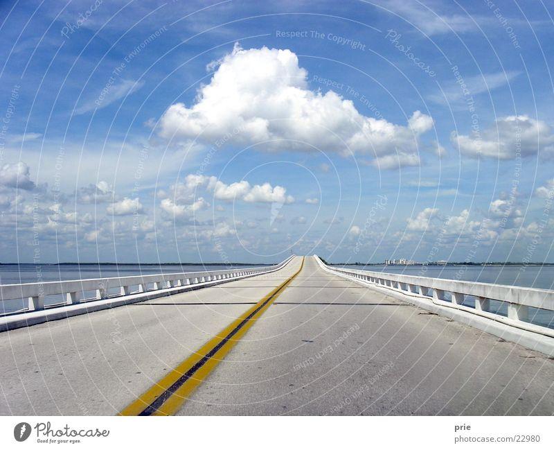 Neue Ufer Himmel Ferien & Urlaub & Reisen Wolken Straße Verkehr Brücke