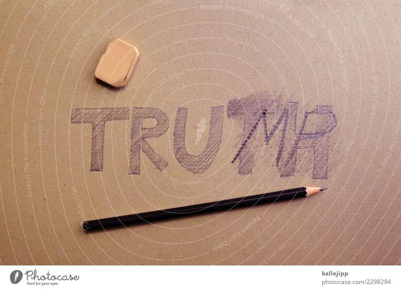 fehlerteufel Schriftzeichen schreiben twitter Trump Tower donald trump USA Präsident Wahrheit lügen falsch richtig korrigieren Bleistift Radiergummi satire