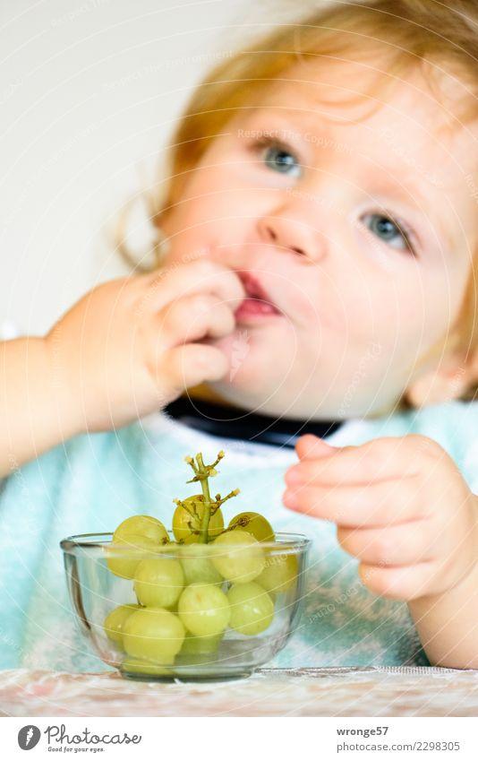süß und saftig | Weintrauben essendes Kind Mensch Gesunde Ernährung Mädchen Essen Gesundheit Lebensmittel Frucht frisch genießen lecker Kleinkind