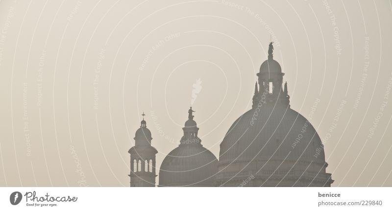Santa Maria Della Salute Santa Maria della Salute Kirche Dach Venedig Sehenswürdigkeit Dämmerung Gegenlicht Querformat Panorama (Aussicht) Panorama (Bildformat)